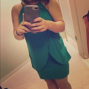 Green dress gorgeous!